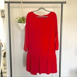 NWT J. Crew Red Classy Dress